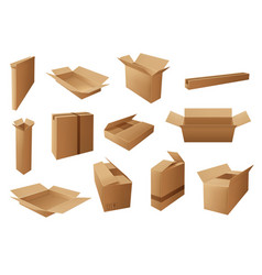 delivery packages boxes parcels and packs vector image