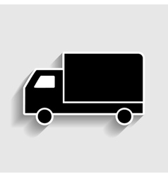 Delivery sign Sticker style icon vector image