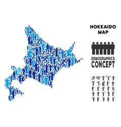 Demographics hokkaido island map vector