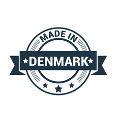 Denmark stamp design vector