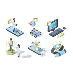 digital medicine smart electronic system for vector image