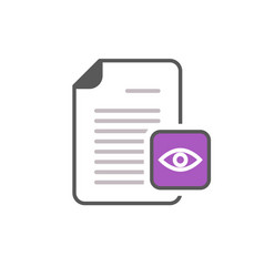 Document eye file page view views icon vector