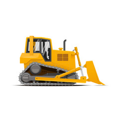 dozer high detailed vector image