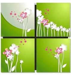 Eco green concept spring card vector image