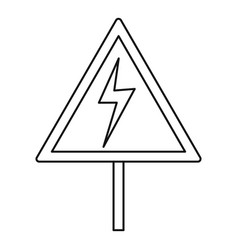 Electric shock sign icon outline style vector