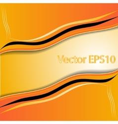 elegant abstract orange background vector image