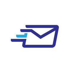 Fast mail logo vector