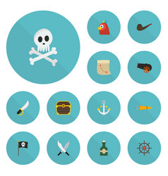 flat icons bottle tobacco sword and other vector image