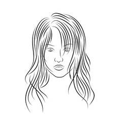 girl 2 vector image
