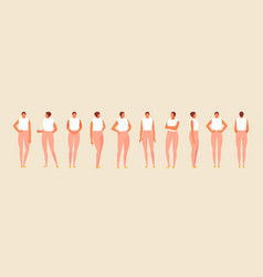 Girl character in various positions vector