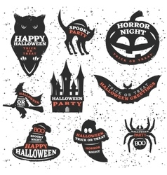 Halloween Elements And Quotes Set vector image