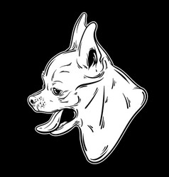 hand drawn puppy with open mouth and tongue vector image