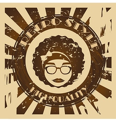 Hippies design over grunge background vector