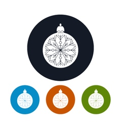 Icon of a christmas ball vector