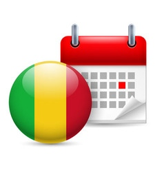 Icon of national day in mali vector
