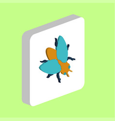 insect fly computer symbol for your business vector image