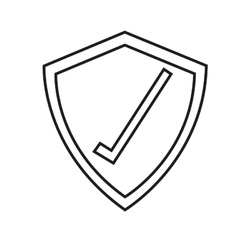 Isolated check mark inside shield design vector image