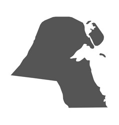 kuwait map black icon on white background vector image vector image