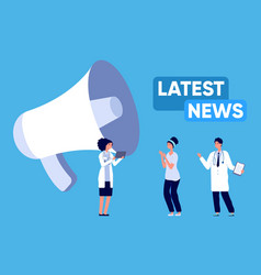latest news update medical breaking information vector image