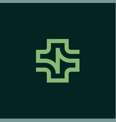 medical healthcare logo design vector image