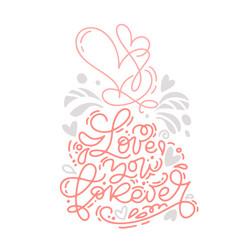 monoline calligraphy phrase love you vector image