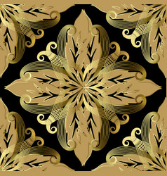 ornate baroque seamless pattern ornamental vector image