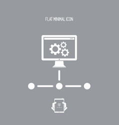 personal computer network settings vector image