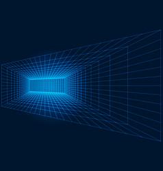 perspective grid indoor room structure vector image