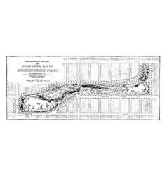 plan of morningside park vintage vector image