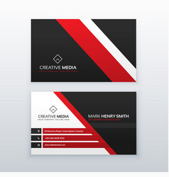 Red and black professional business card for your vector