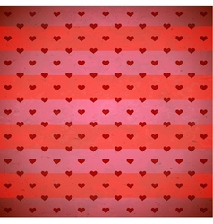 Red hearts striped pattern vector image