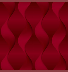 red seamless texture wavy background interior vector image