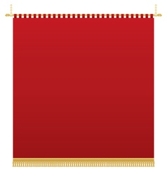 Red wall hanging vector