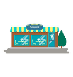 Restaurant building facade vector