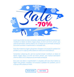 sale winter discount inscription on label poster vector image