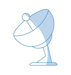 Satellite antenna icon vector