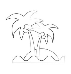 sea island beach palms vector image