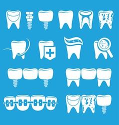set dentist icons vector image