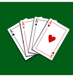 Set of Four Card Icons vector image