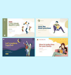 Set of web page design templates for health care vector