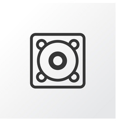 Speaker icon symbol premium quality isolated vector