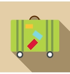 Suitcase icon flat style vector