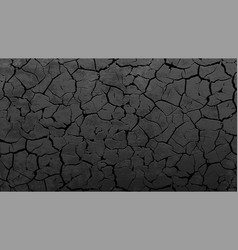 texture a crack on a stone wall or soil vector image