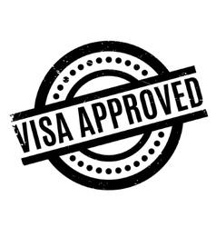 Visa Approved rubber stamp vector image