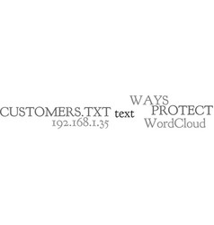 Ways to protect your customers text word cloud vector