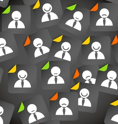 Abstract crowd of social media account avatars vector image vector image