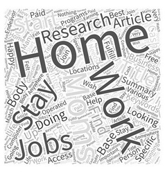 At home jobs for stay at home moms word cloud vector