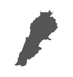 lebanon map black icon on white background vector image vector image