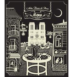 Paris cafe vector image vector image