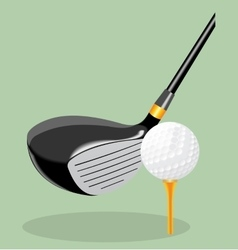 realistic Golf club and ball vector image vector image